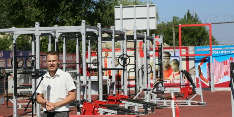В День физкультурника на стадионе «Труд» открыли новые спортивные объекты – футбольное поле и площадку ГТО