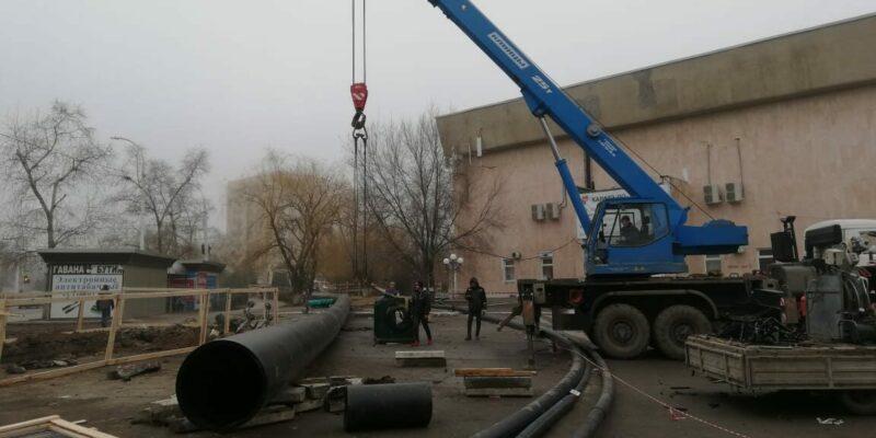 Работы по замене трубопровода на наиболее проблемных участках коллектора планируется завершить к середине февраля