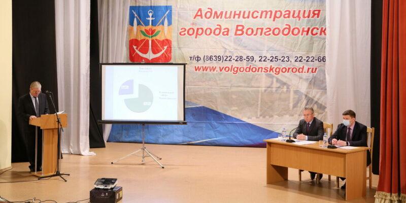 На расширенном заседании коллегии администрации Волгодонска подвели итоги года работы в условиях ограничительных мер