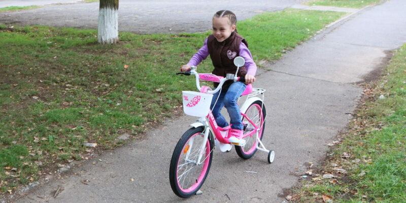 Семье Омельчук из Волгодонска по просьбе Владимира Путина подарили два велосипеда
